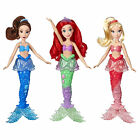 Disney Princess Ariel and Sisters Dolls 3 Pack With Skirts and Hair Accessories