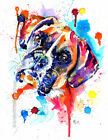 Boxer Dog Art Print Painting Artwork Gifts Wall Art Poster Gift