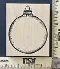 NEW Outlines RUBBER STAMP Christmas Tree Baulb Ball Ornament