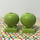 Fiestaware Chartreuse Bulb Candle Holders Fiesta Green Retired Round Set of 2