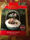 Hallmark Magic Light Motion Ornament Forest Frolics 1991 – Animals Skate on Ice