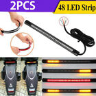 Flexible Motorcycle LED Strip 48LED Tail Brake Stop Turn Signal Running Lights