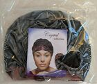 Crystal Collection Women Elastic Turban Beanie Silver Gray Head Wrap Chemo Cap