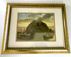 Morro Rock at Sunset Art Print Framed Matted By Artist Marjorie Sharpe