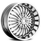 4 20 Strada Wheels Spina Chrome Rims B1