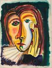 PICASSO ORIGINAL PAINTING GOUACHE signed Picasso Nice papers BEAUTIFUL