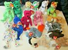 Big lot of 16 BEANIE BABIES mostly bears, all w/hang tags except Garcia