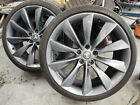 Tesla Model S 21 inch Gray turbine wheels OEM 5X120