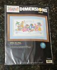 Dimensions Crewel Embroidery Kit Shelf of Toys Birth Record Made in USA