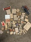 HUGE LOT of Crafting Stamps Mixed Themes Wood Mount Rubber Stamps