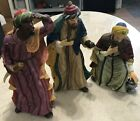 OWELL CHINA VINTAGE LARGE NATIVITY SET OF 3 WISE MEN