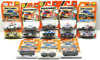 13pc 1990s Matchbox Diecast Vehicle Lot Police Cars+ Emergency Rescue Trucks NOC