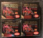 MARVEL MASTERPIECES 1993 (4) FOUR Marvel Masterpieces Sealed Unopened Box's