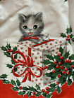 1950 VINTAGE CHRISTMAS Apron Kitty CAT Kittens HOLIDAY