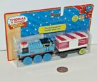 Thomas Friends Wooden Railway Train Tank - Christmas Engine & Candy Cane Car NEW