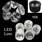 10x Led Lens Reflector Collimator Waterproof 15-120 Degree Pmma Clear Surface