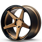 4 22x9 Ferrada Wheels FR3 Matte Bronze with Gloss Black Lip Rims B1