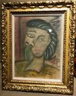 PICASSO ORIGINAL PAINTING GOUACHE signed Picasso Raisonne GALLERY STAMPS