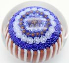STRIKING Drew EBELHARE Stave Basket Concentric MILLEFIORI Art Glass PAPERWEIGHT