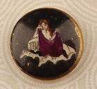 Satsuma Picture Button Zodiac Virgo Horoscope Sign One Inch 19th c