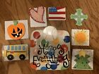 Happy Everything Multi Color Dot Square Platter With Stand And 9 Attachments