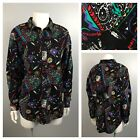 1990s Button Up Shirt Native American Print Button Up Shirt Open Back Medium