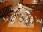 Grandeur Noel Porcelain Nativity Set With Creche Collectors Ed 2001 SHIPS FREE