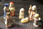 Bug House Porcelain Nativity Jesus Mary And Joseph Wise MenShepard Boy 7 Pc