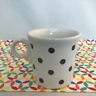 Fiestaware White Mulberry Dot Ring Handled Mug Fiesta Purple Outlet Exclusive