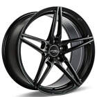 4 19 Staggered Ace Alloy Wheels AFF01 Matte Black Rims B2