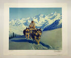 Original Vintage The Nelchina Trail Signed Numbered Fred Machetanz Litho