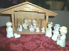 Vintage Lighted Musical Nativity Set 12 Piece