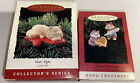 Hallmark 1995 Cat Naps Clip On Ornament And Sweet Greeting Hang Cats New In Box