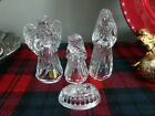 Princess House Lead Crystal Glass Nativity Set 4 Piece Bundle
