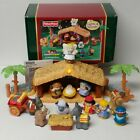 Fisher Price Little People Christmas Story Nativity Scene lights music 2002 box
