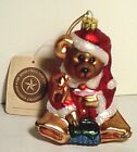 Boyds Blown Glass QVC Exclusive Santa  Bear~ NIB~ GlassSmith Christmas Ornament