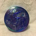 Fenton Glass Cobalt Blue Carnival Butterfly Candy Powder Box QVC Ex Verlys Mold