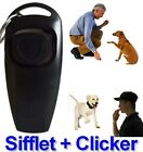 2 in 1 Dog and Puppy Training Clicker and Recall Whistle Train Behavior Agility