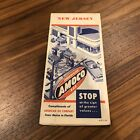 1950s AMOCO MOTOR OIL Road Map NEW JERSEY Vintage  American Gas