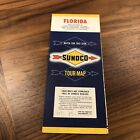 1950s Sunoco Road Map: Florida Vintage Oil Gas Station