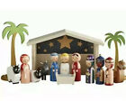 FAO Schwarz Traditional Wooden Nativity Set New