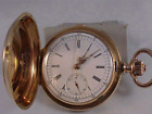 Solid 18K Swiss Pocket Watch Quarter Repeater