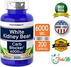 WHITE KIDNEY BEAN EXTRACT 6000mg 200 Capsule Carb Blocker Weight Loss Supplement