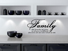 Family Like Branches On A Tree vinyl wall quotes home art decor 12 x 22