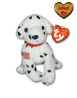 Ty Beanie Babies Dalmatian Dog Rescue FDNY September 11th Tribute Stuffed Animal