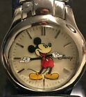 Vintage Disney Mickey Mouse Quartz Watch MU0991 Stainless Steel Band