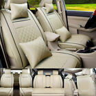 Us Car Seat Cover Protectorcushion Frontrear Full Set Top Pu Leather Interior