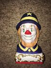 Rare Vintage Ezra Brooks Clown Decanter 1980 Collector Series Big Liquor Bottle