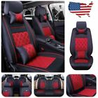 Universal 5-seats Full Set Car Suv Seat Coverpillows Full Surrounded Pu Leather