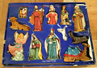 Vintage 12 Piece Nativity Set Porcelain Holiday Time Large 6 Size